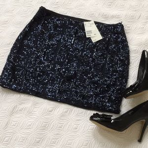 NWT deep blue sequin skirt by H&M